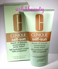 Clinique Self Sun Touch Of Bronze Moisturizing Body Lotion 5oz/150ml New In Box