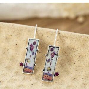 Unusual Dangle Drop Earrings  Metal Ethnic Vintage Flower Jewellery