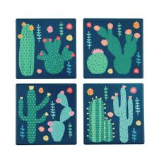 Sass & Belle Set of 4 Colourful Cactus Coasters