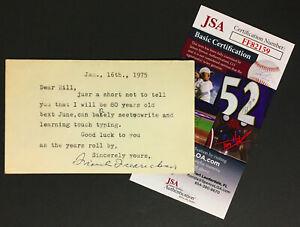 Frank Fredrickson Signed Index Card Rare NHL Hockey Hall Of Famer Autograph JSA