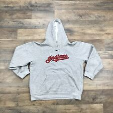 CLEVELAND INDIANS Nike Sweatshirt Hoodie Youth Size Medium Chief Wahoo Logo 90s