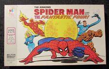1977 SPIDER-MAN & FANTASTIC FOUR Milton Bradley Board Game Complete
