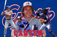 Montreal Expos Lithograph print of  Gary Carter 17 x 11