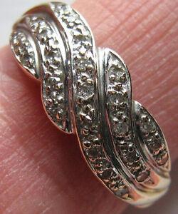 585er Gold-Ring mit Brillant Paveefassung, Gr. 56