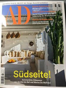 AD Architectural Digest Juli&August 2019 - Neuwertig und ungelesen