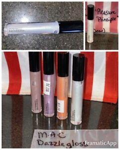 MAC Dazzleglass ~ PLEASURE PRINCIPAL Clear Lip Gloss Full Size Shimmer Glitter