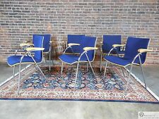 THONET Set of 6 Chrome Bent Wood Modern Design Chairs