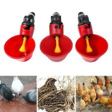 10 Pcs Hen Quail Bird Poultry Drinker Chicken Plastic Automatic Water Cups CA