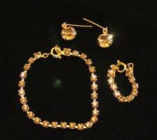 "GLAMOR! Lt Topaz Rhinestone Jewelry Set Necklace Earrings for Cissy 20-22"" Doll"
