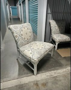 $600 for PAIR of Barbara Barry Baker lounge slipper Chairs