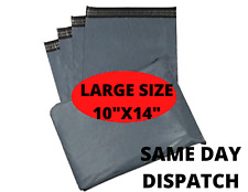 """Strong 10"""" x 14"""" UK Large Mailing Parcel Bags Grey Postal Poly Self Seal Bags"""