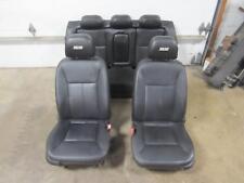 07-08 CHEVY IMPALA Set Black Leather Seats SS Front Bucket AR9 Rear Bench Back