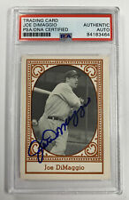 Joe DiMaggio Autographed PSA/DNA All Time New York Yankees Baseball Card HOF
