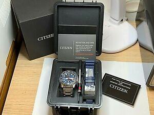 Brand New Citizen Men's Automatic Sport Diver Watch Set Ref NH8381-63L RRP £399