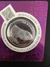 2015 Fiji  Iguana 1oz Silver Coin in Certi-Lock
