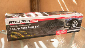 Pittsburgh Automotive 13,000 lb 2 Piece Portable Vehicle Ramp Set - New in Box