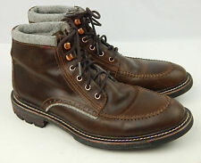 Woolrich Woodwright Men's Leather Marsh Ash Boots Size 8 M Excellent Condition