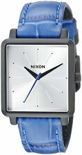 Nixon Women's A4722131 K Squared Black Blue Gator-stamp Leather A472-2131-00