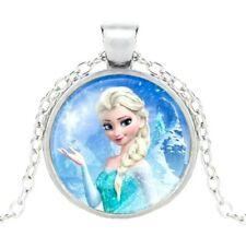 💕BellaBow Disney Frozen Kids Princess Pendant Necklace Charm Queen Elsa