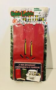 Vintage Holiday Luminarias Christmas Guide Lights 6 Luminaries 6 Candles New