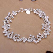 Silver Plated Beaded Bracelet - 20cm Long