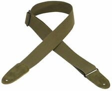 Levy's MC8-GRN Guitar Strap Cotton with Leather Ends - Green