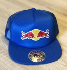 Red Bull Trucker Hat Cap BK Brand Embroidered Patch Style Racing Adjustable Flat