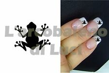 20 AUTOCOLLANTS POUR ONGLES GRENOUILLE NAILS STICKERS FROG NAIL ART MANUCURE