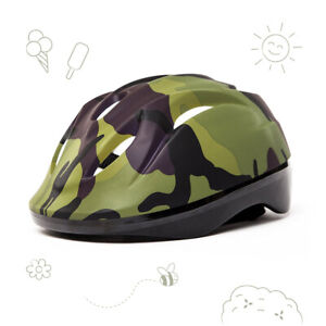 3StyleScooters® Cycle Helmet - Kids Green Camo Safety Helmet - Ages 7-10