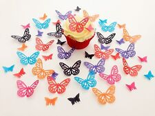 48 Edible Bold Mix Butterflies Pre Cut Wafer Cupcake Toppers