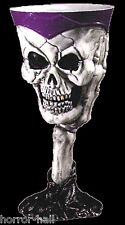 Medieval Pirate Skeleton SKULL GOTHIC GOBLET Horror Party Cup Wine Drink Glass-P