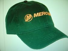 "MERCURY OUTBOARDS PARTS ""NEW"" ""FOREST GREEN AND ORANGE"" ""MERCURY"" CAP HAT"