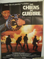 DOGS OF WAR 1981  Large French poster 45 by 62  CHRISTOPHER WALKEN TOM BERENGER