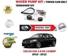 für Volvo C30 1.6 115bhp D2 2010-2012 Wasserpumpe+Zahnriemenspanner Set