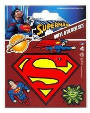 Superman Shield Vinyl Stickers Official Carded