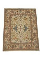 "8X10 Beige Oushak Area Rug Hand-Knotted Wool Oriental Carpet (7'11"" x 10')"