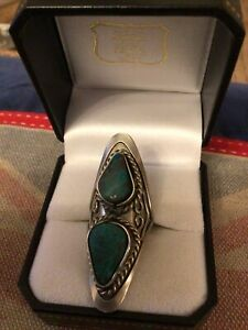 Stunning Ring Metal & Semi Prescious Stone Statement Box Not Included