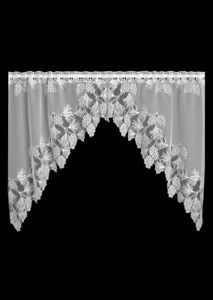 """Heritage Lace WHITE WOODLAND Window Swag Pair 68""""W x 40""""L - Made in USA!"""