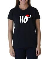 Ladies Ho3 T-shirt Ho Ho Ho Christmas T Shirt Xmas Santa Claus Funny Humor Tee