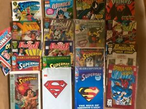 Lot of 15 Vintage Marvel / DC Comic Books ~ Spiderman, Superman, Punisher