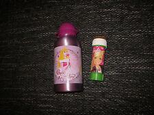 Trinkflasche Alu Disney Prinzessinnen Barbie Seifenblasen Geschenkset neu Mädels