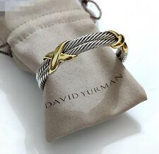 David Yurman Sterling & 10MM Double Cable X Bracelet