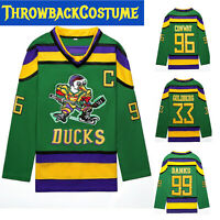The Mighty Ducks Movie Jersey #96 Conway #99Banks #33 Goldberg #66 Hockey Jersey