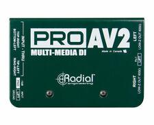 Radial ProAv2 Pro Av2 Multimedia Stereo Direct Box Proaudiostar