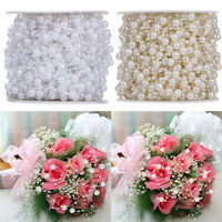 5M Faux Pearl Bead String Garland Wedding Table Party Decoration Celeration