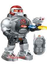 SPACE FIGHTER ROBOT Remote Control Walking Dancing Shooting Sliding Toy UK Stock