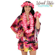 Ladies Kaftan Pink Sunset + Lei Set