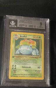 German first edition bisaflor. Venusaur BGS 9. Pokémon base 1st ed.