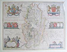 Nottinghamshire: antique map by Johan Blaeu, 1645-67