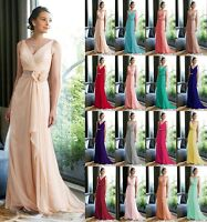 New V-neck Formal Chiffon Evening Ball Gown Party Prom Bridesmaid Dress Size6-24